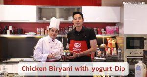 Chicken Biryani with yogurt Dip