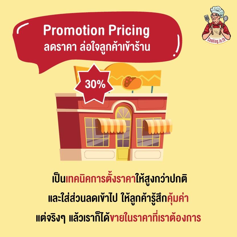 Promotion Pricingลดราคา ล่อใจลูกค้าเข้าร้าน